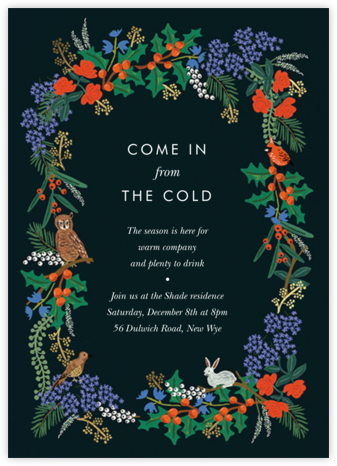 Winter Floral - Rifle Paper Co. - Holiday party invitations