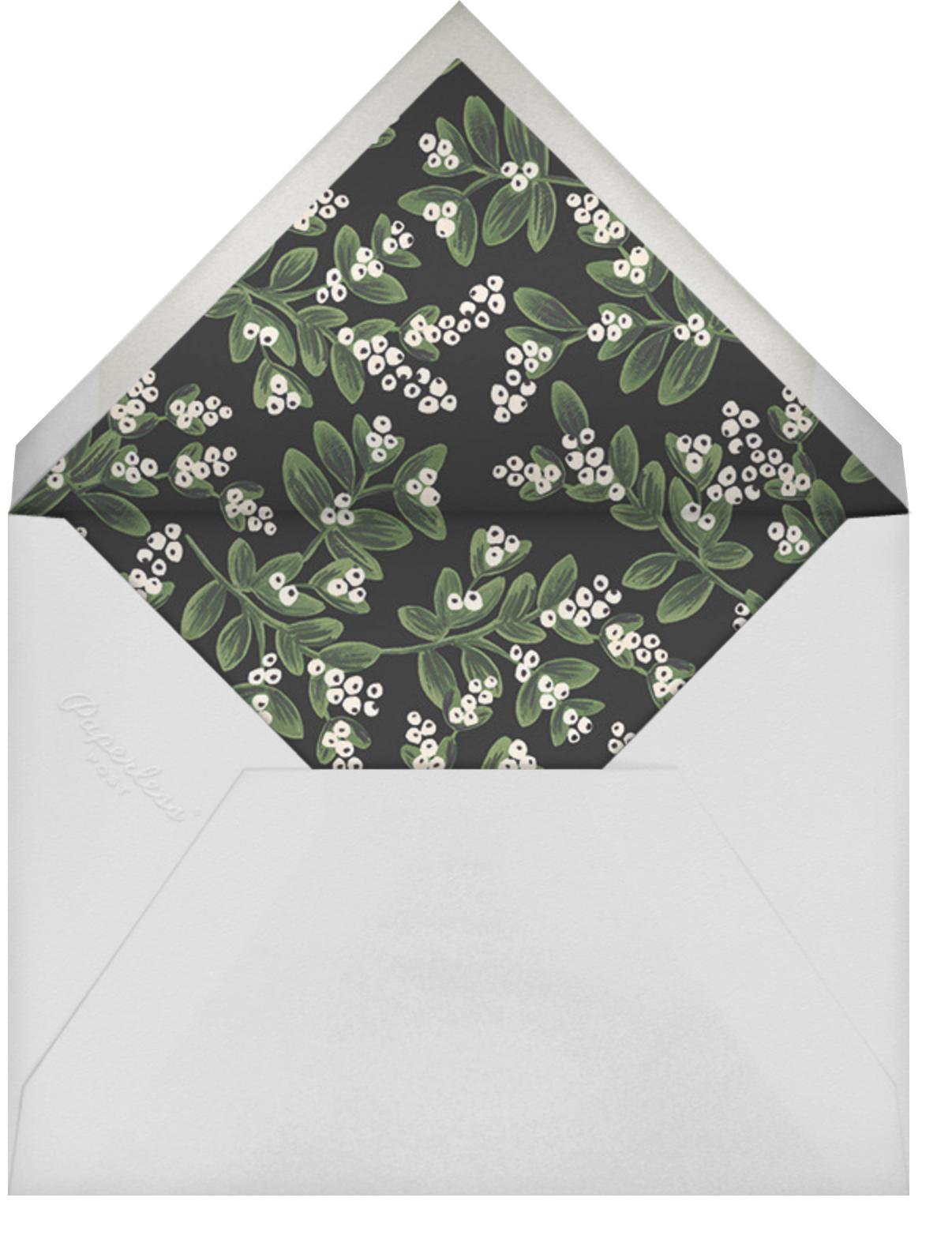 Mistletoe Accent Flourish - Gold - Rifle Paper Co. - Winter entertaining - envelope back