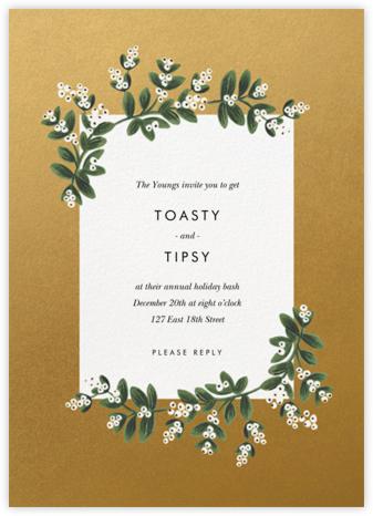 Mistletoe Accent Flourish - Gold - Rifle Paper Co. - Holiday invitations