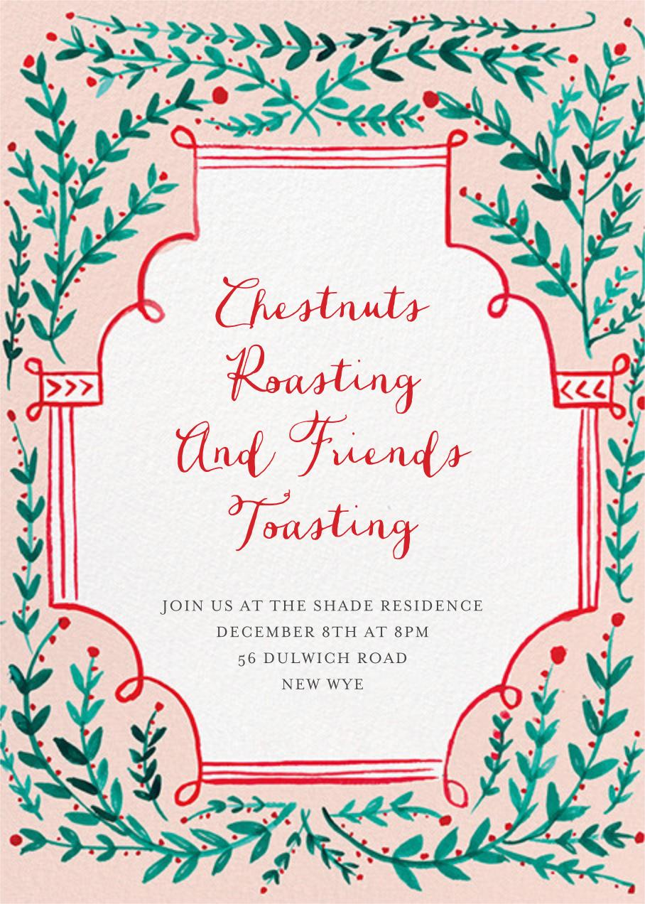 Sprawling Vines - Mr. Boddington's Studio - Holiday party invitations
