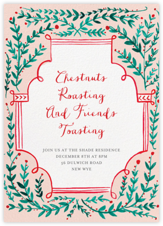 Sprawling Vines - Mr. Boddington's Studio - Holiday party invitations