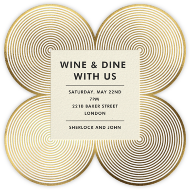 Melrose - Gold - Jonathan Adler - Dinner party invitations