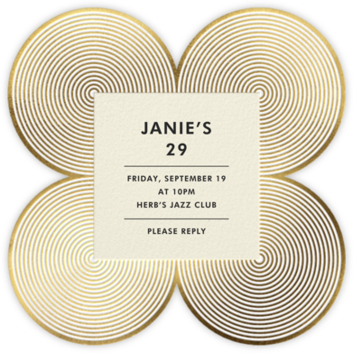 Melrose - Gold - Jonathan Adler - Adult birthday invitations