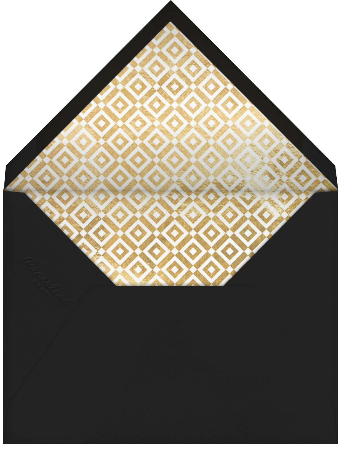 Melrose - Gold - Jonathan Adler - Dinner and luncheon - envelope back