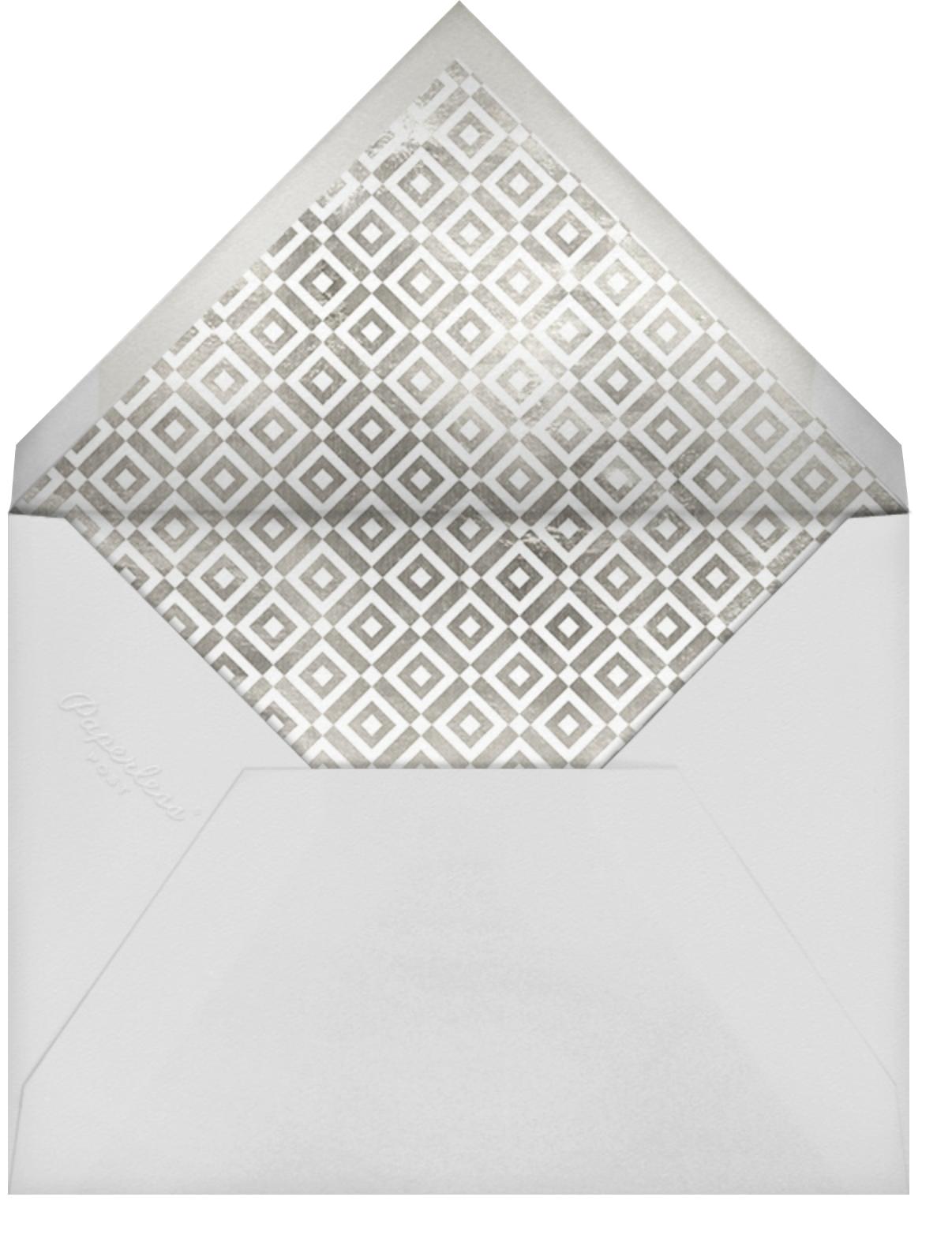 Melrose - Blue - Jonathan Adler - Dinner party - envelope back