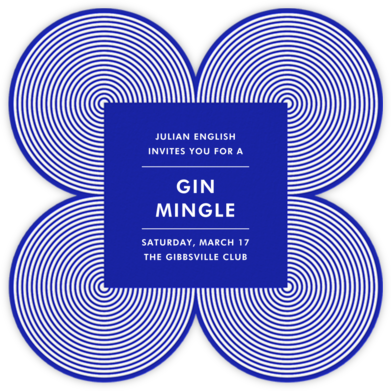 Melrose - Blue - Jonathan Adler - Casual Party Invitations