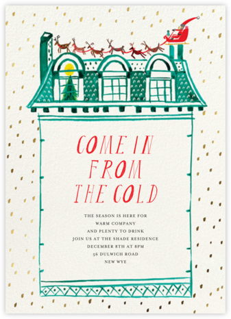 Up on the Rooftop - Invitation - Mr. Boddington's Studio - Holiday invitations