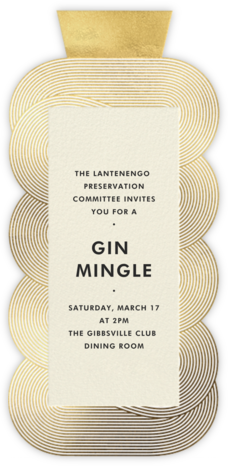 Beverly - Gold - Jonathan Adler - Casual Party Invitations