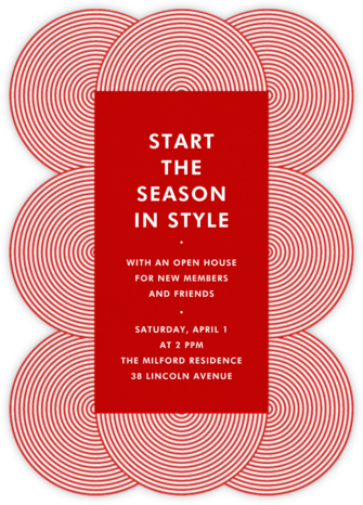 Fillmore - Red - Jonathan Adler - Invitations