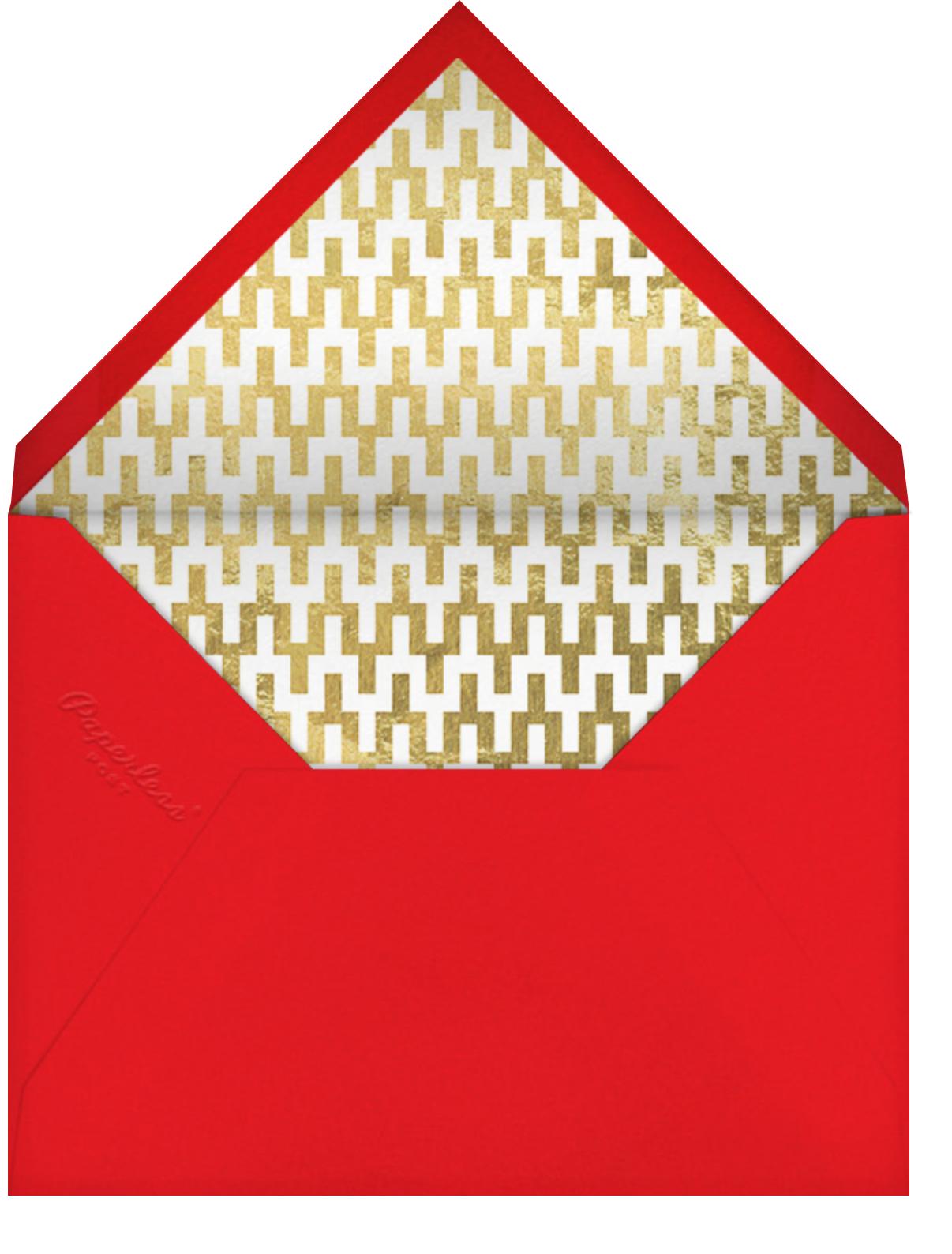 Fillmore - Red - Jonathan Adler - Adult birthday - envelope back