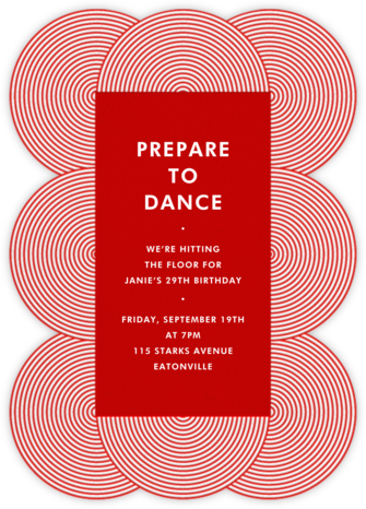 Fillmore - Red - Jonathan Adler - Adult Birthday Invitations