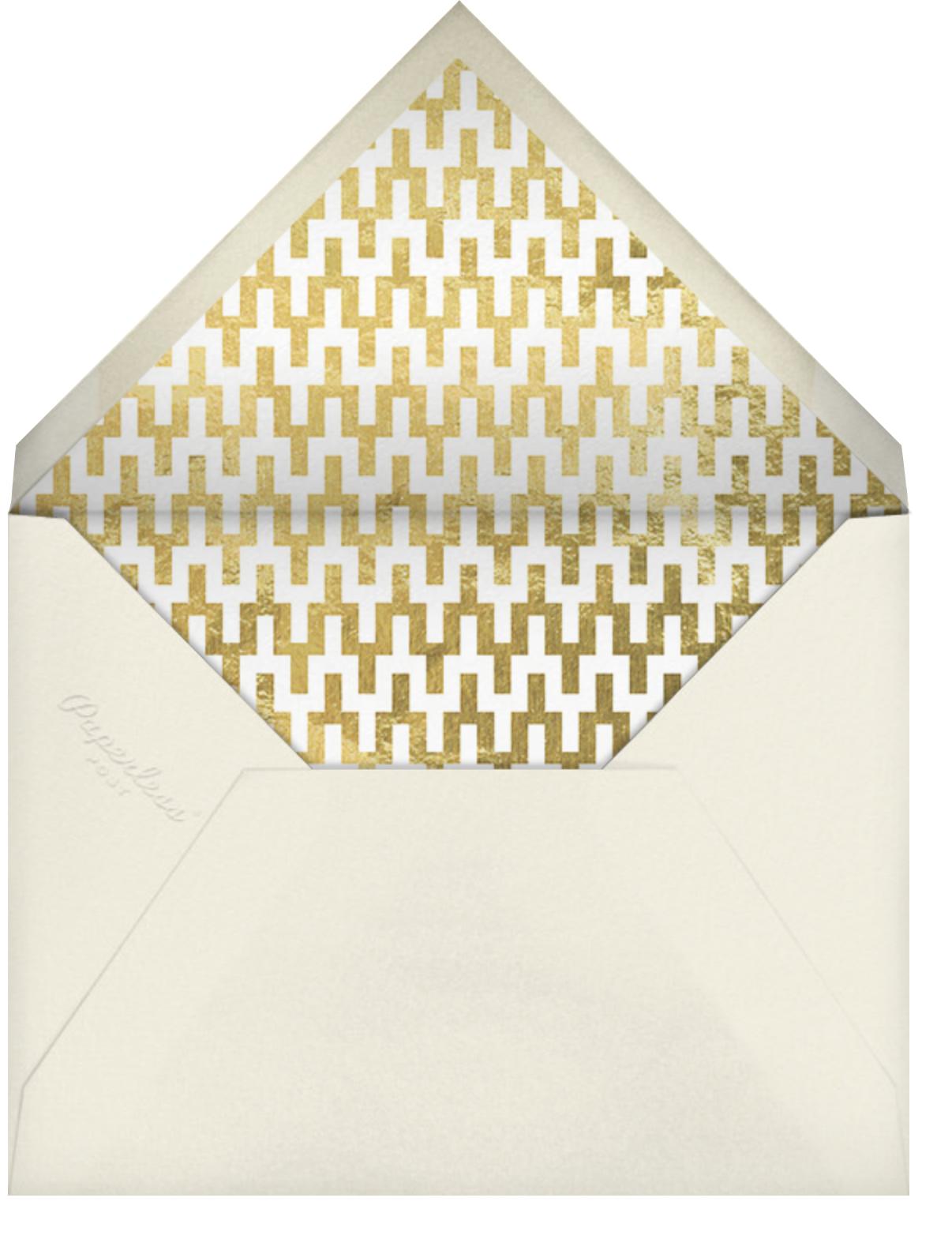Fillmore - Gold - Jonathan Adler - Winter entertaining - envelope back