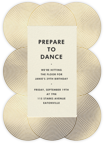 Fillmore - Gold - Jonathan Adler - Adult birthday invitations