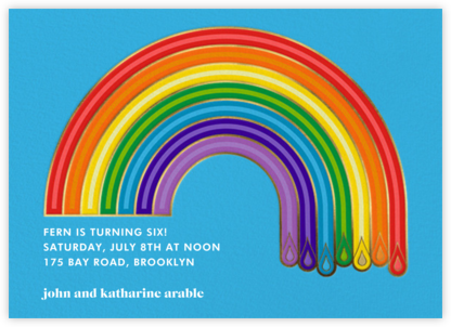 ROYGBIV - Jonathan Adler - Online Kids' Birthday Invitations