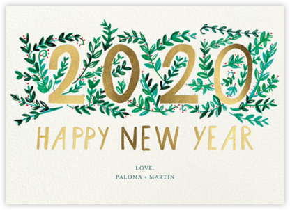 New Year Growth - Mr. Boddington's Studio - New Year Cards