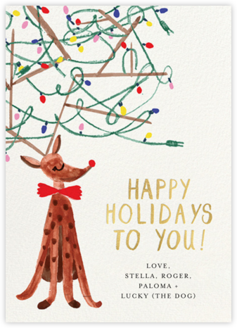 Festive Antlers - Mr. Boddington's Studio - Holiday Cards