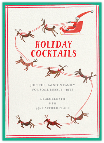 S is for Santa - Mr. Boddington's Studio - Holiday party invitations