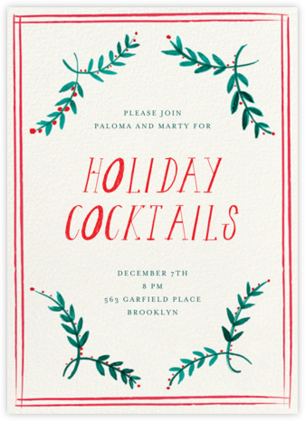 Seasonal Trimmings - Mr. Boddington's Studio - Holiday invitations