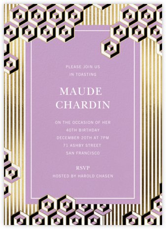 Illusion - Jonathan Adler - Adult Birthday Invitations