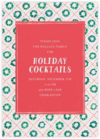 Sweet Wreaths - Mr. Boddington's Studio - Holiday invitations