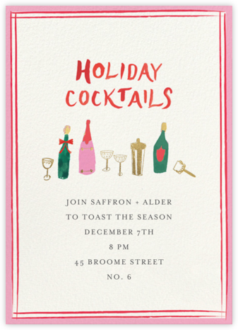 Shake Things Up - Mr. Boddington's Studio - Holiday invitations