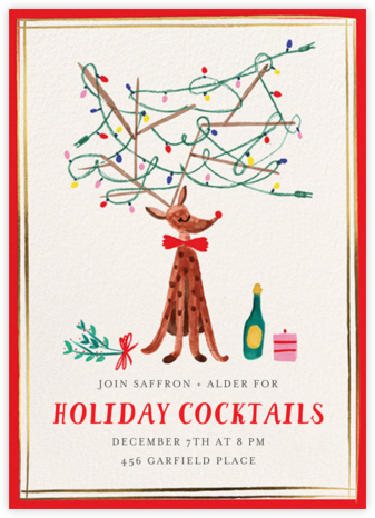 Light Up the Room - Mr. Boddington's Studio - Holiday party invitations