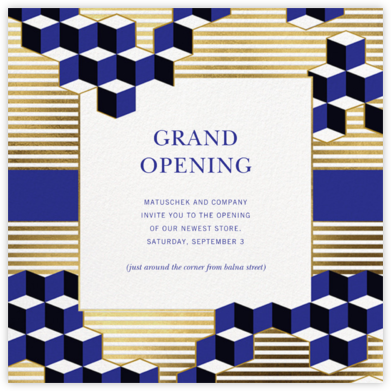 Cliff - Jonathan Adler - Reception invitations
