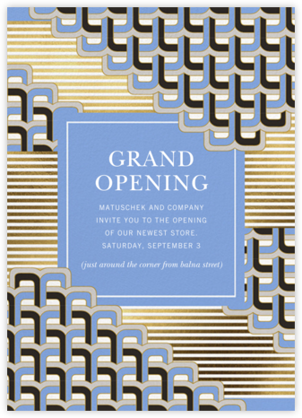 Poseidon - Jonathan Adler - Launch and event invitations