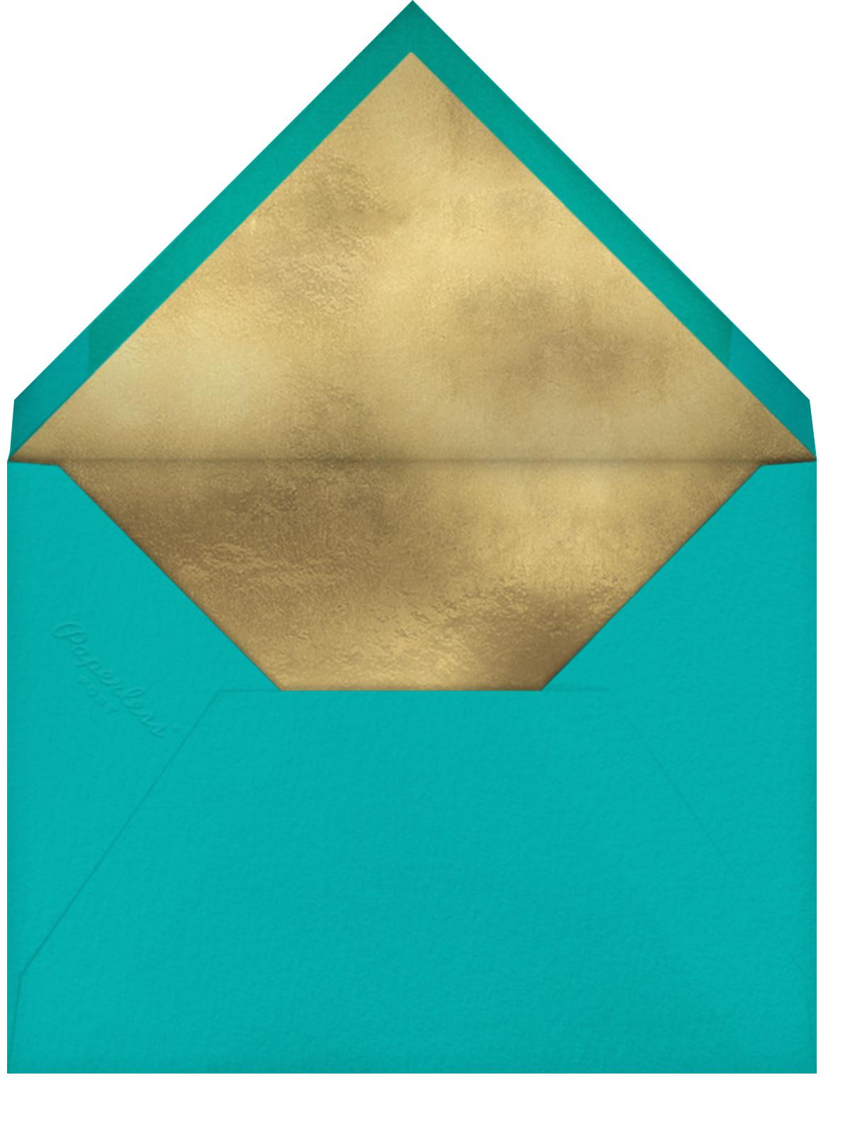Peacocking - Teal - Jonathan Adler - General entertaining - envelope back