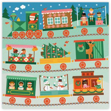 Santa Train - Petit Collage - Holiday invitations