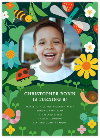 Bug Smiles - Petit Collage - Online Kids' Birthday Invitations