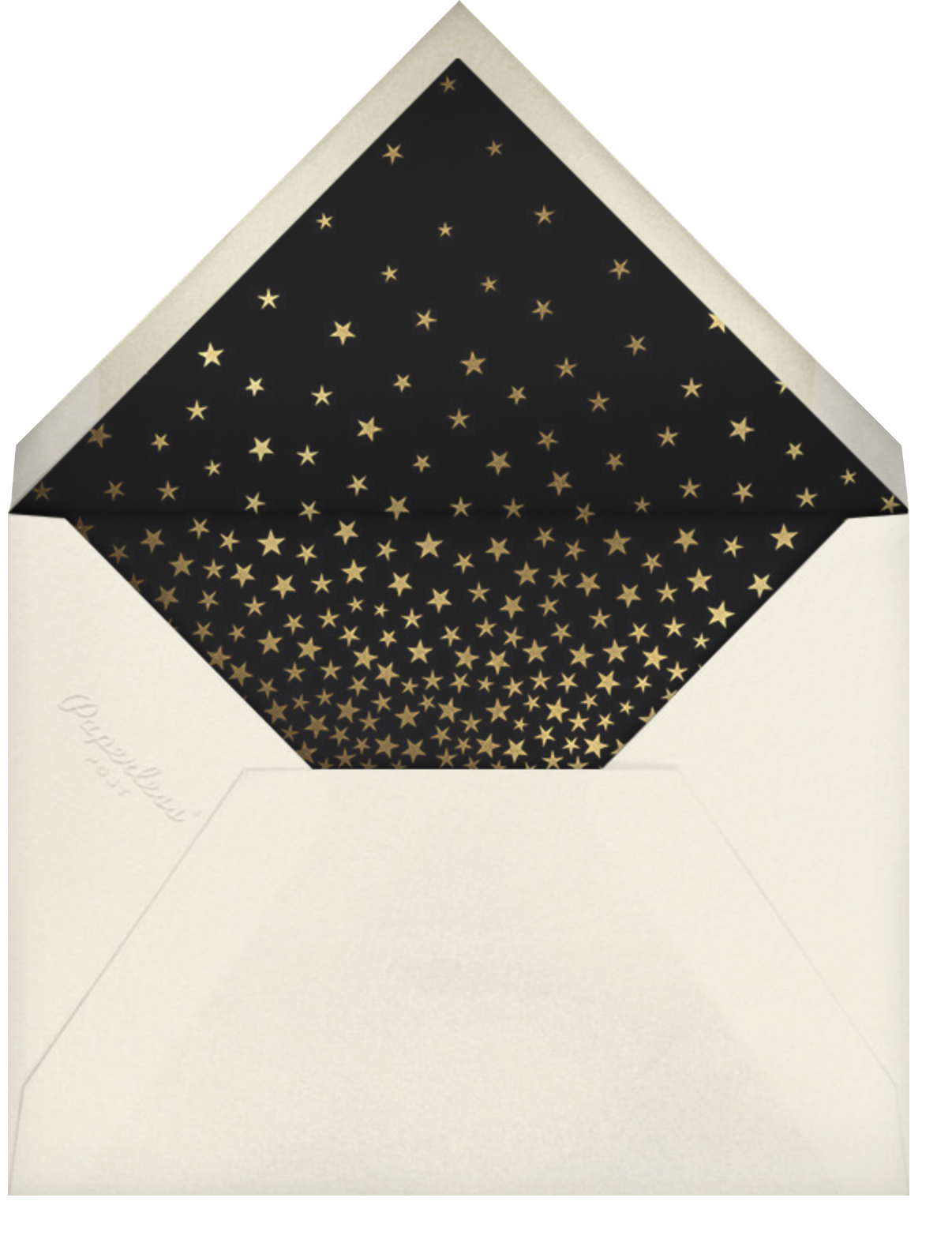 Starry Tree - Black - Paperless Post - Holiday cards - envelope back