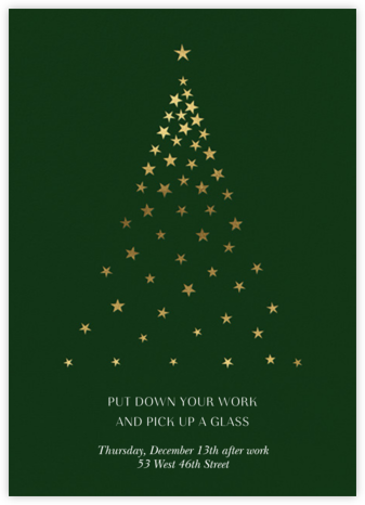 Starry Tree - Forest Green - Paperless Post - Company holiday party