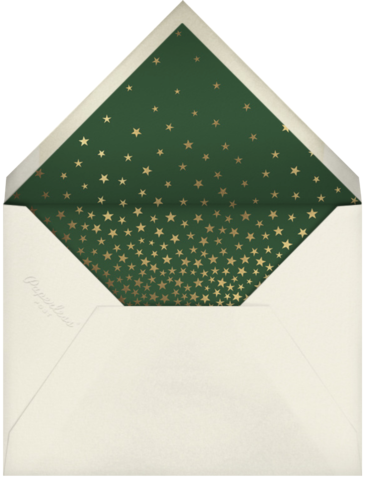 Starry Tree - Forest Green - Paperless Post - Envelope