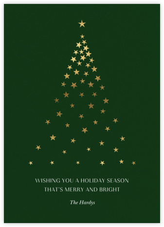 Starry Tree - Forest Green - Paperless Post