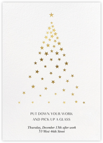 Starry Tree - White - Paperless Post - Company holiday party