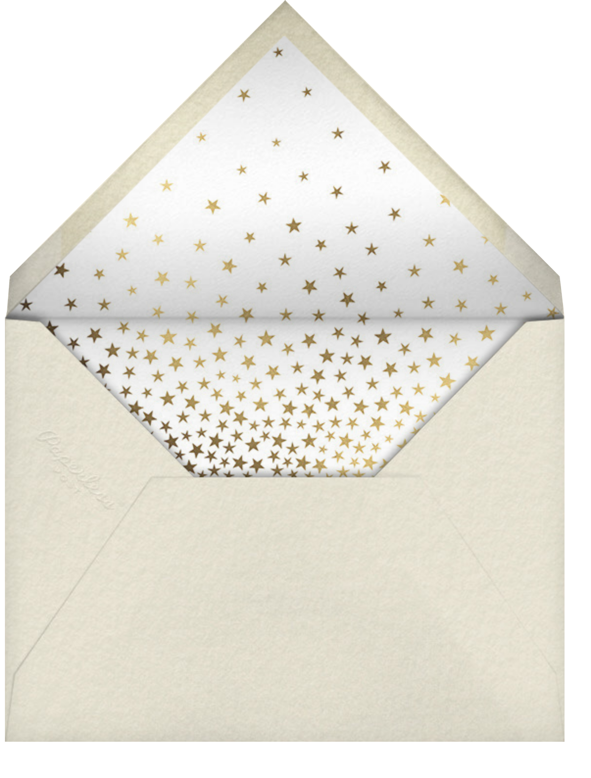 Starry Tree - White - Paperless Post - Holiday cards - envelope back