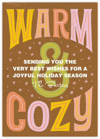 Warm and Cozy - Paperless Post - Holiday Cards