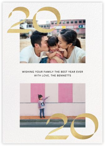 Bookends - Paperless Post - Holiday photo cards