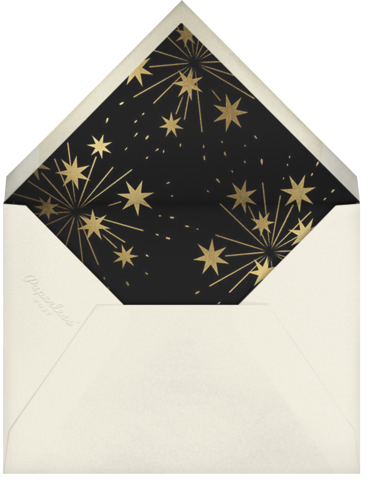 Bright and New - Paperless Post - New Year's Eve - envelope back