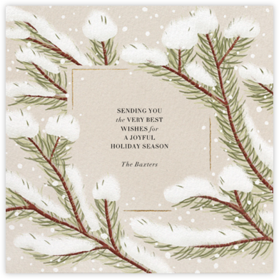 Snowy Pines - Paperless Post - Holiday Cards