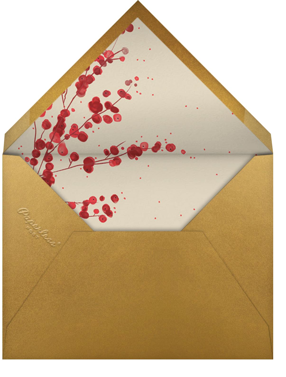 In Season - Paperless Post - Christmas party - envelope back
