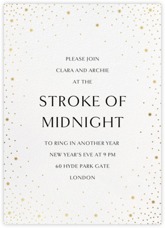 Modest Dazzle - White - Paperless Post - New Year's Eve Invitations