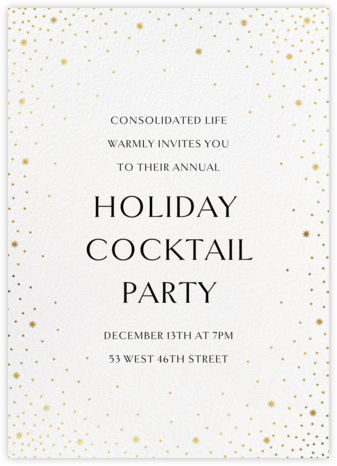 Modest Dazzle - White - Paperless Post - Company holiday party