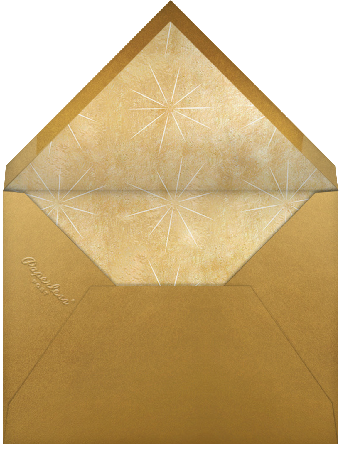 Modest Dazzle - White - Paperless Post - Christmas party - envelope back