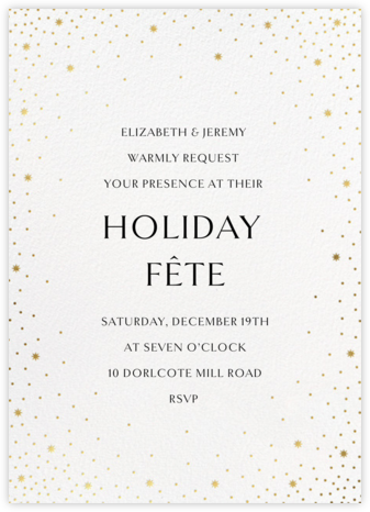 Modest Dazzle - White - Paperless Post - Holiday party invitations