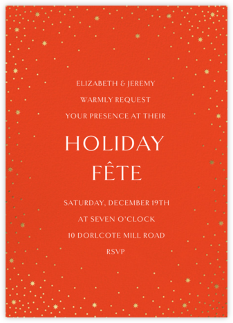 Modest Dazzle - Flame - Paperless Post - Holiday invitations