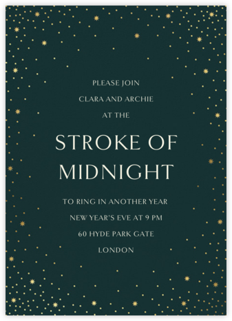 Modest Dazzle - Douglas - Paperless Post - New Year's Eve Invitations