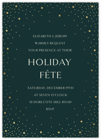 Modest Dazzle - Douglas - Paperless Post - Holiday Invitation Templates