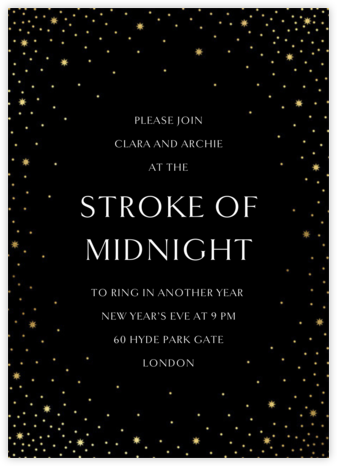 Modest Dazzle - Black - Paperless Post - New Year's Eve Invitations